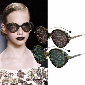 DIOR Umbrage Havana Red Gold MIrrored Sunglasses